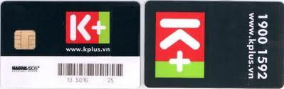 Phôi thẻ truyền hình số vệ tinh K+