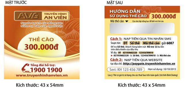 Thẻ Cào Gia Hạn AVG (An Viên) 300