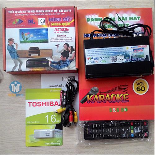 Đầu thu Kỹ thuật số DVB-T2 Hùng Việt HD-Karaoke