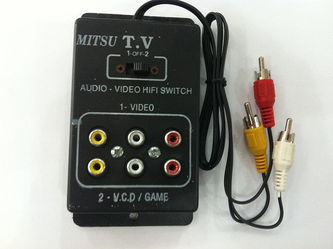 Bộ gạt Audio Video 1-2 (6 lổ)